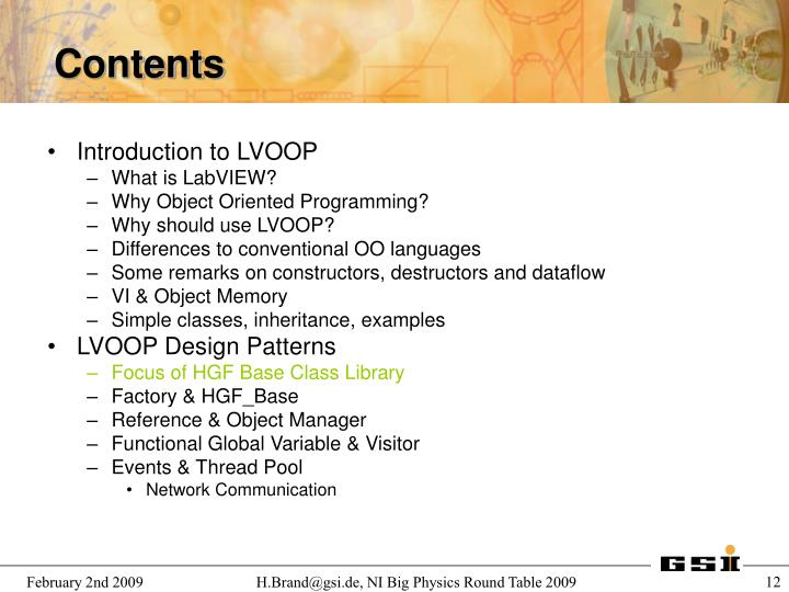 Introduction to LVOOP