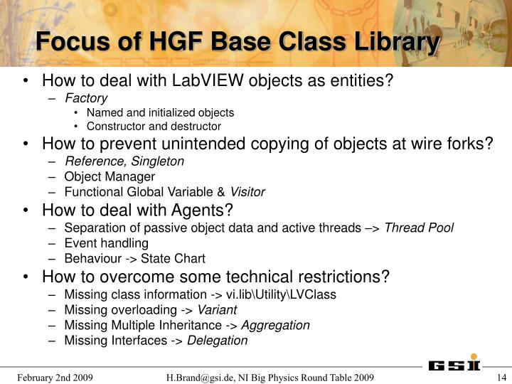 How to deal with LabVIEW objects as entities?