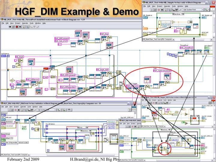 HGF_DIM Example & Demo