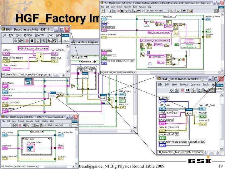 HGF_Factory Implementation
