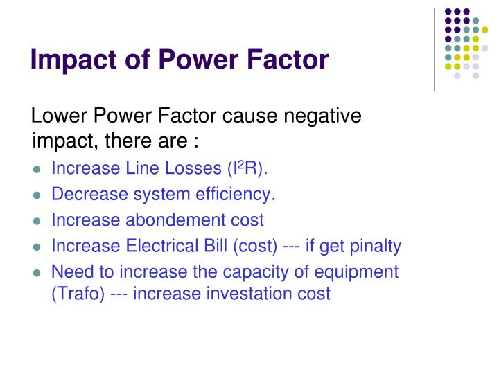 Impact of Power Factor