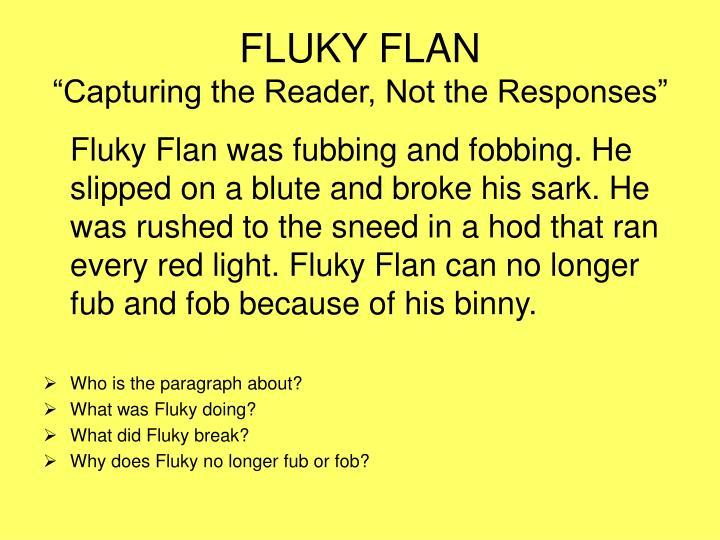 FLUKY FLAN