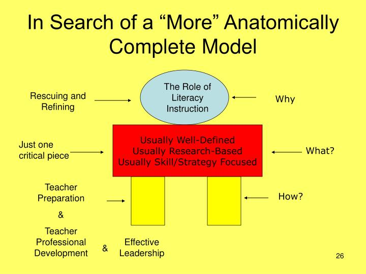 """In Search of a """"More"""" Anatomically Complete Model"""