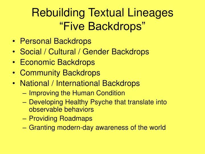 Rebuilding Textual Lineages