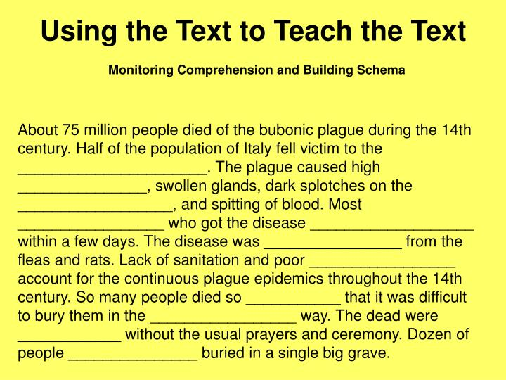 Using the Text to Teach the Text