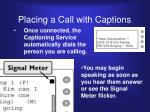placing a call with captions2