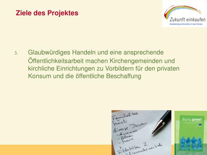 Ziele des Projektes