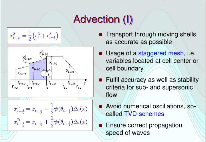 Advection (I)