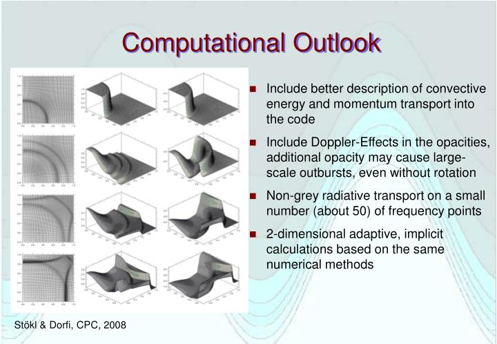Computational Outlook