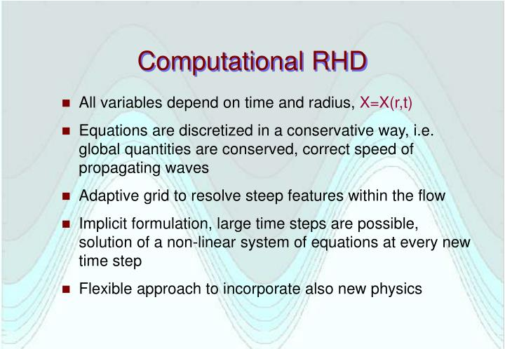 Computational RHD