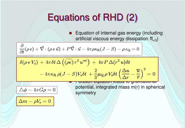Equations of RHD (2)