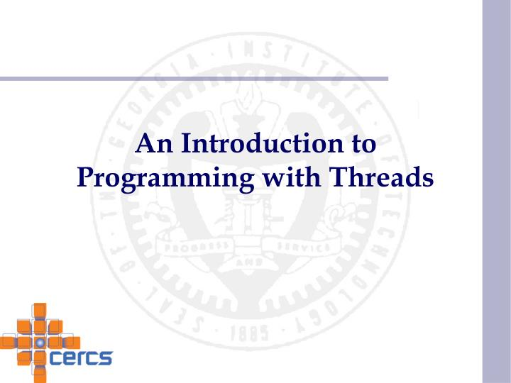 an introduction to programming with threads n.