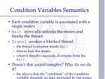condition variables semantics