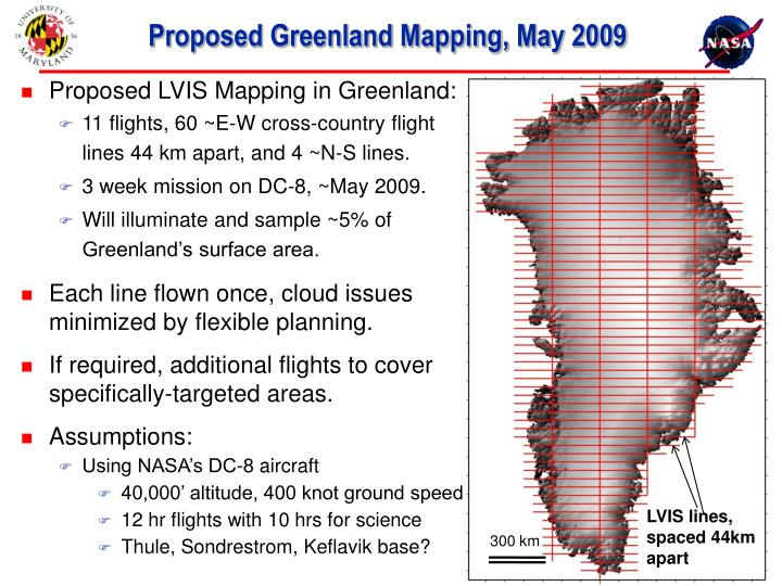 Proposed greenland mapping may 2009