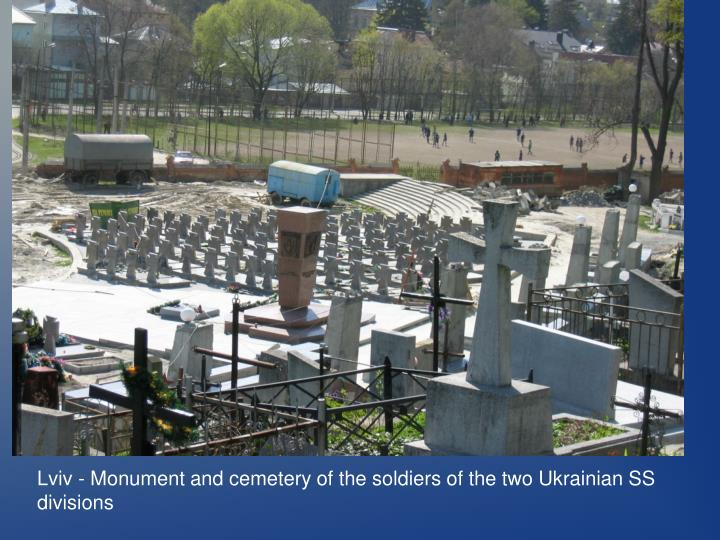 Lviv - Monument and cemetery of the soldiers of the two Ukrainian SS divisions