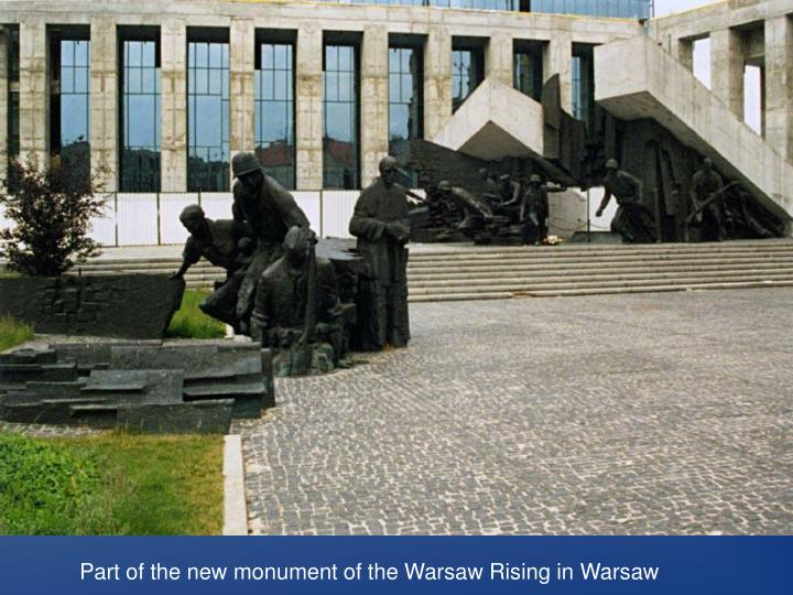 Part of the new monument of the Warsaw Rising in Warsaw