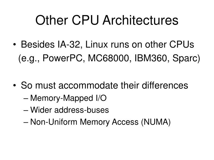 Other CPU Architectures