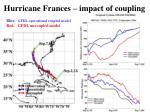 hurricane frances impact of coupling