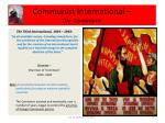 communist international the comintern