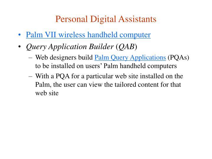 Personal Digital Assistants