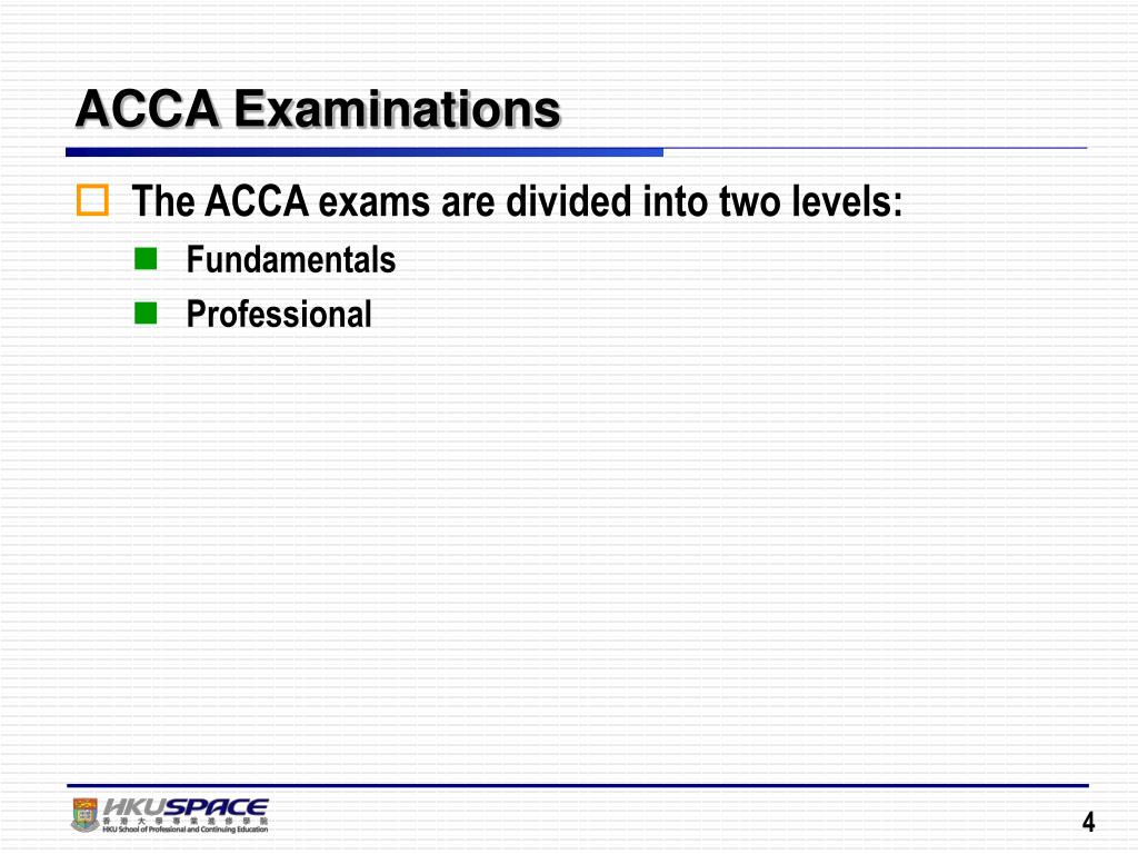 PPT - Strategic Approach in Tackling ACCA Examinations