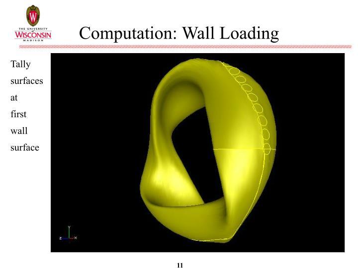 Computation: Wall Loading