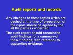 audit reports and records2