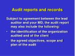 audit reports and records3