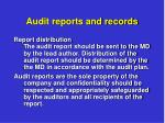 audit reports and records7