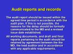 audit reports and records8