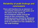 reliability of audit findings and conclusions1