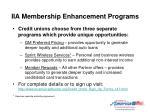 iia membership enhancement programs