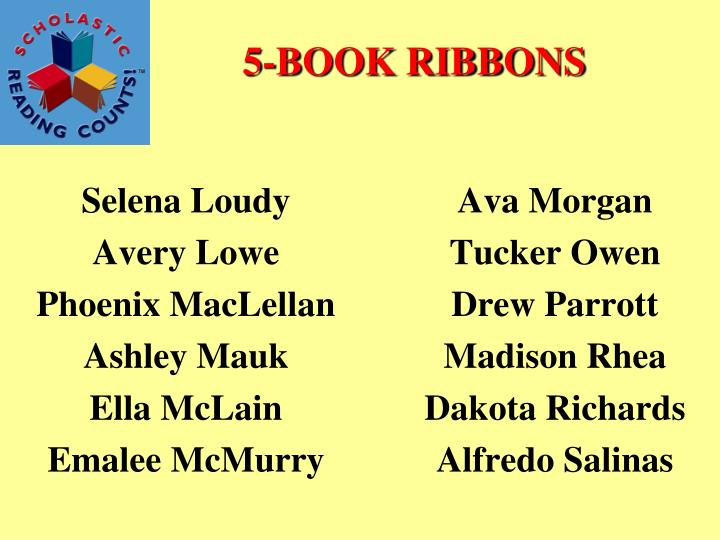 5-BOOK RIBBONS