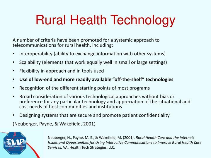 Rural Health Technology
