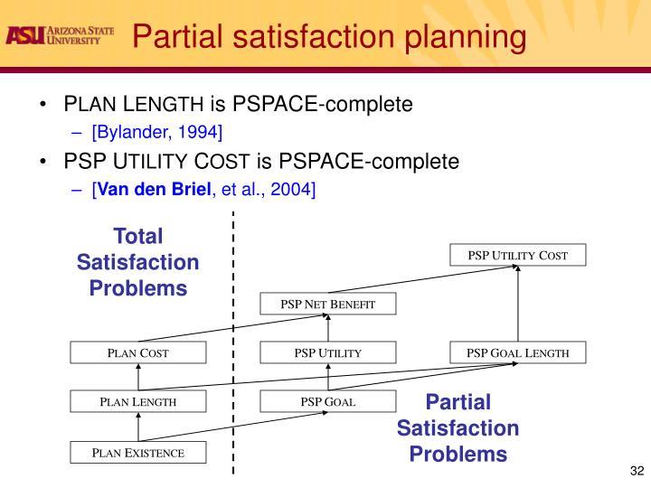 Partial satisfaction planning