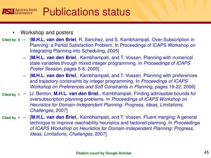 Publications status