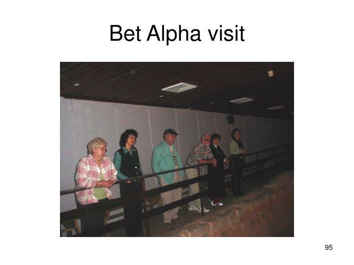 Bet Alpha visit