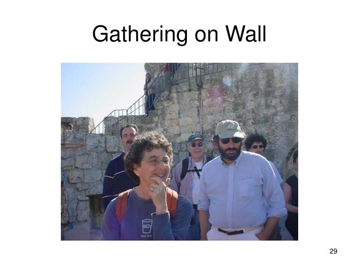 Gathering on Wall