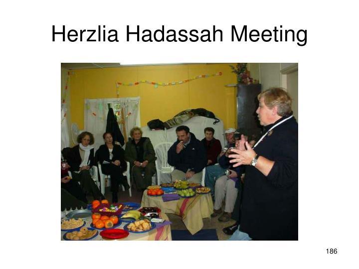 Herzlia Hadassah Meeting
