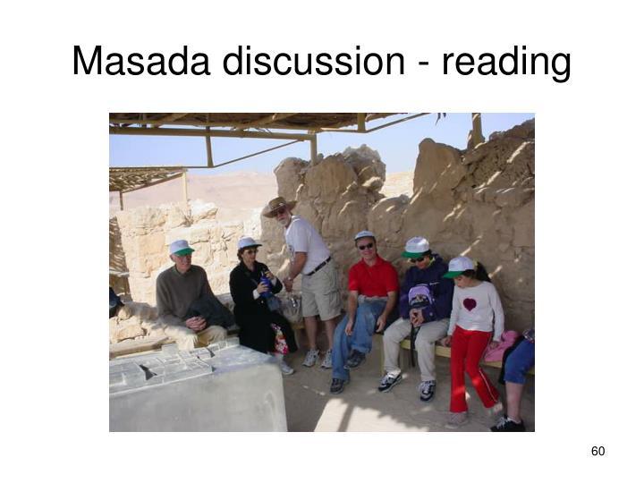 Masada discussion - reading