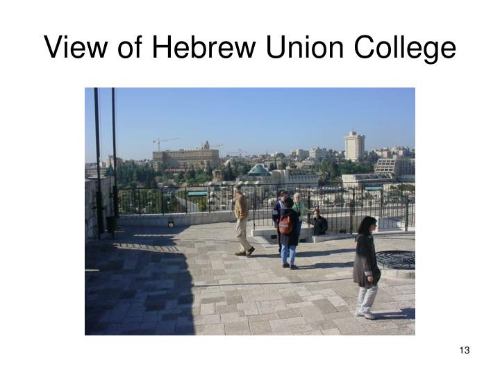 View of Hebrew Union College