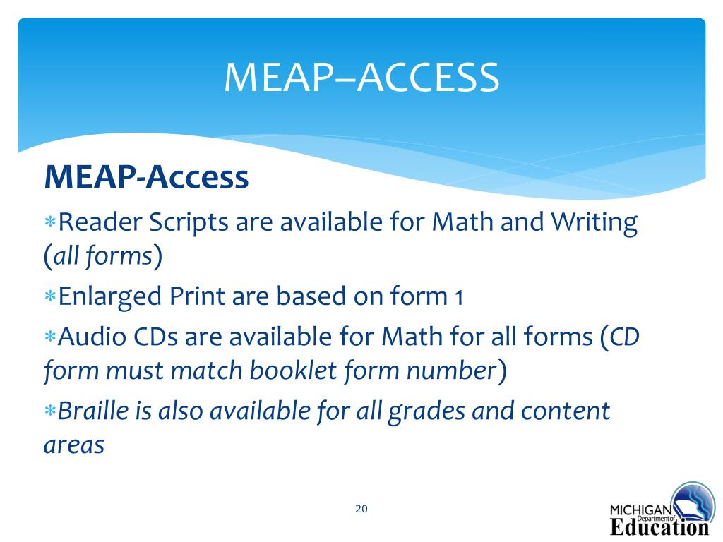 PPT - MEAP/MEAP- Access Coordinator Briefing PowerPoint Presentation