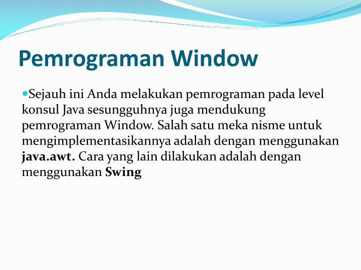 Pemrograman window1