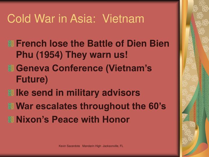 Cold War in Asia:  Vietnam