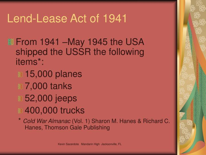 Lend-Lease Act of 1941