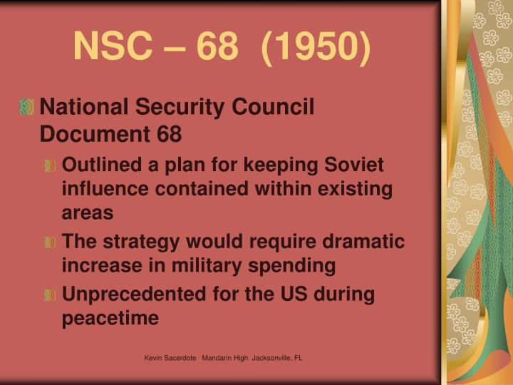 NSC – 68  (1950)