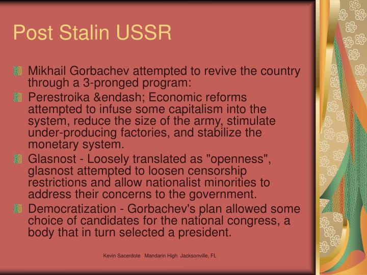 Post Stalin USSR