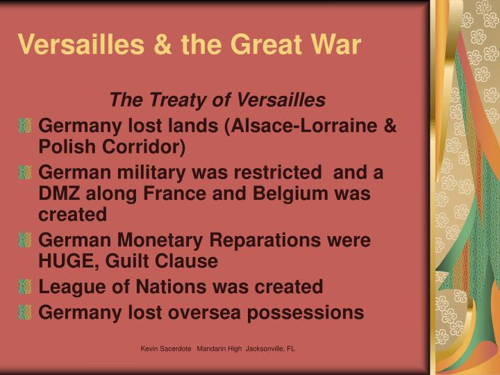 Versailles & the Great War