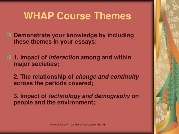WHAP Course Themes