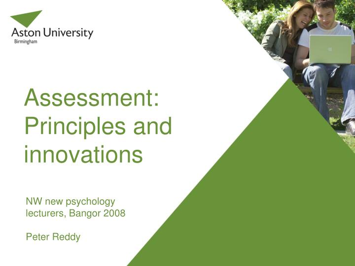 assessment principles and innovations n.